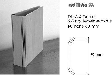Holzordner adAkta Größe XL