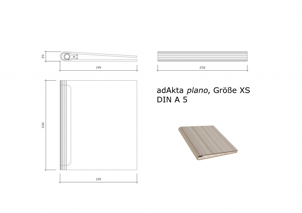 Ringbuch adAkta plano XS DIN A5