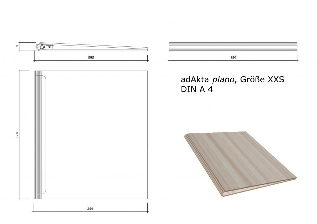 Ringbuch adAkta plano XXS DIN A4