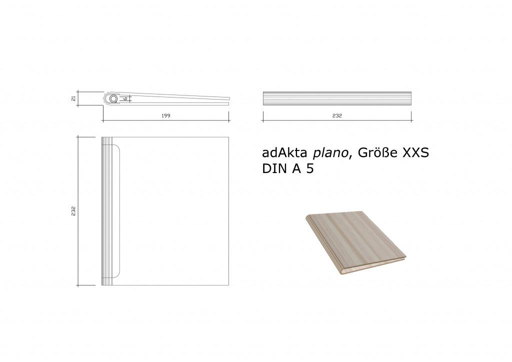 Ringbuch adAkta plano XXS DIN A5